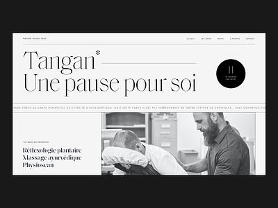 Tangan - Hero Exploration massage vintage header hero design ui