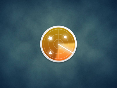 Radar Icon radar icon sketch 3 sketch star app logo blur