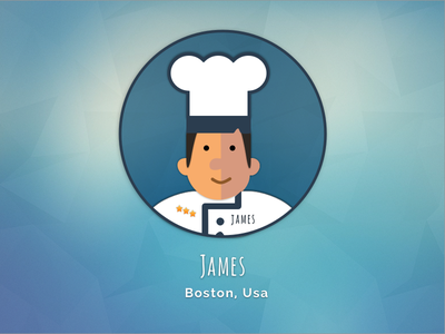 Cook James by sketch app sketch app cook cooking illustration background star