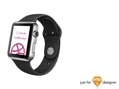 Dribbble Invite for Sketch Designer sketch design app watch iwatch apple