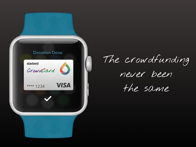 Starteed Crowdcard crowdfunding card starteed apple pay credit donation