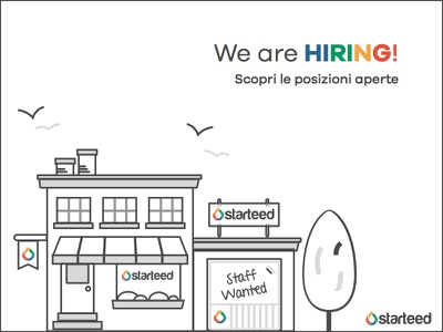 We are hiring! flag tree bush starteed social wanted staff nature building illustration hiring