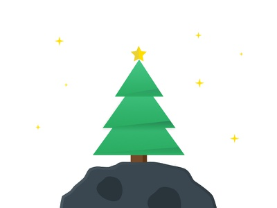 Tree & Star illustration icon sketch stars rock christmas star tree