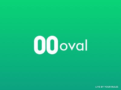 Oval Logo fintech logotype logo oval