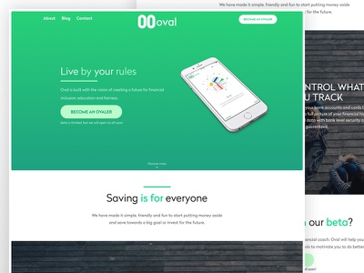 Landing  Page waiting ios mobile app saving money fintech logo oval