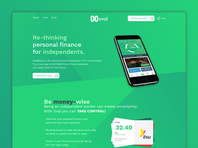 Oval Money | Landing Page  money-wise finance steps ovalmoney money fintech oval landing