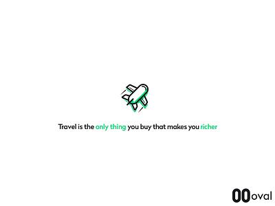Travel icon saving spending rich travel money ovalmoney oval