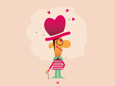 ...with heart and HEAD vector font fontstyle lettering graphicdesign character head heart love valentinesday