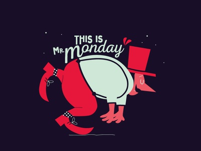 This is Mr. Monday adobe typography fontstyle lettering cartoon vector illustration comics character monday
