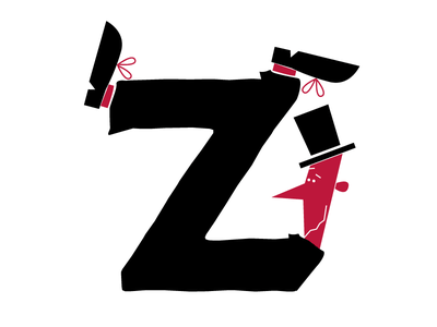 36daysoftype project -Z- typography fontstyle comics character illustration lettering word 36daysoftype