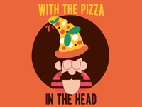 With Pizza .. In The Head! :)