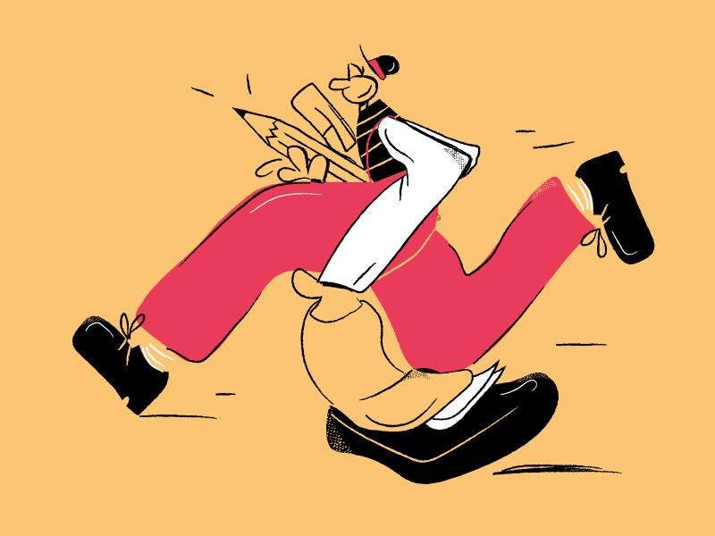 Let's go! picture visual run illustrator art vector illustration cartoon comics creative