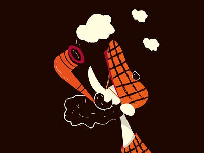 """""""Ritratto di uomo con pipa"""" illustration avatar cartoon pipe comics hipster character art vector portrait"""