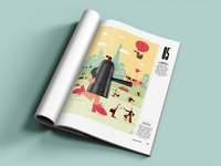 Magazine psd mockupdribbble