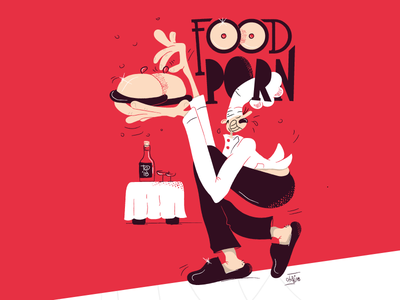 Food Porn - Torino Graphic Days cooking chef food and beverage performance live visual font fontstyle cartoon comics character illustration food art vector graphicdays foodporn food