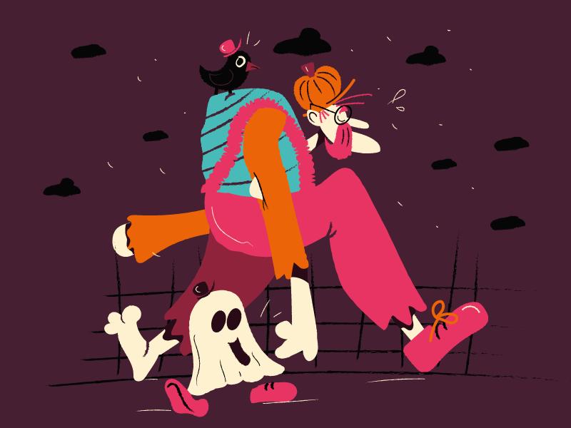 happy halloween crazy draw visual art cartoon comic comics character illustration ghost zombie monster halloween
