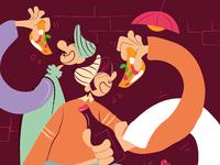 Pizza pizza tavola disegno 1 copia