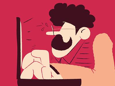 Monday mood visual vintage picture creative computer art comics character illustration vector art vector businessman office mood monday