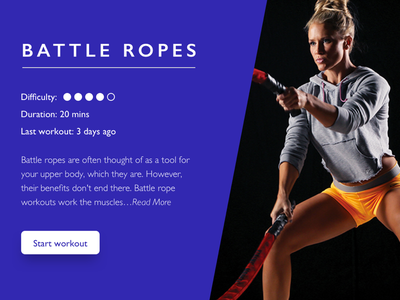 Workout Of The Day dailyui gym ui workout exercise battle ropes workout of the day