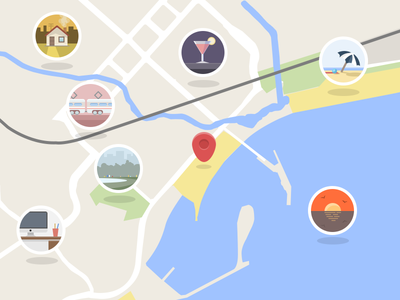 Flattened Google Maps?