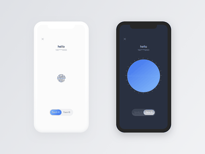 ID Scan concept recognition concept iphonex touch id face