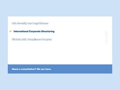 Lawyers Firm corporate website dropdown ui design ui lawyer webdesign design menu interactive design interaction fintech art direction