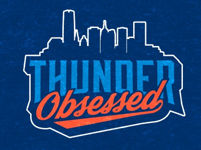 ThunderObsessed.com logo thunder basketball blog logo nba okc oklahoma city navy blue orange hoops