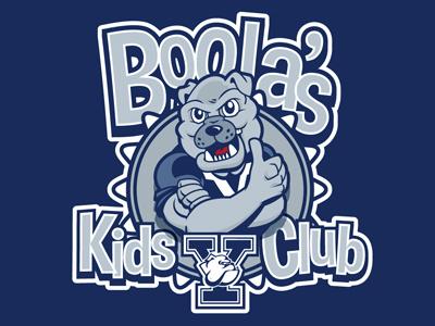 Yale University Boola's Kids Club ncaa yale university bulldog kids club dog blue gray
