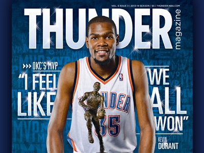 Thunder Magazine featuring Kevin Durant nba basktball oklahoma city okc kevin durant thunder magazine cover