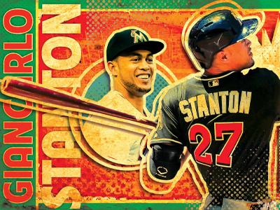 Giancarlo Stanton poster mlb baseball miami marlins giancarlo stanton poster green orange red