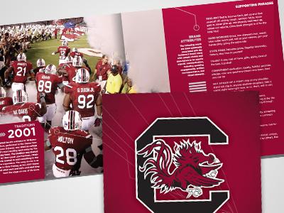South Carolina Branding Book south carolina gamecocks branding sec red publication ncaa sports