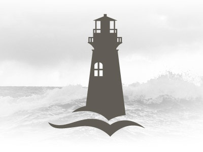 Lighthouse logo lighthouse logo water book brown ocean