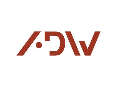 ADW logo logo a d w type geometric