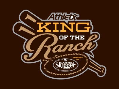 King of the Ranch Tournament baseball logo sports ranch king western rope bats