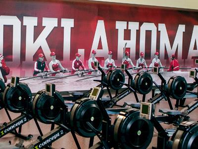 Oklahoma Rowing Environmental Graphics ncaa university oklahoma rowing facility wrap environmental vinyl