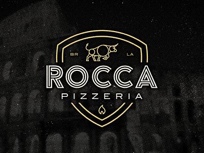 Rocca Logo lines logo pizza bull baton rouge