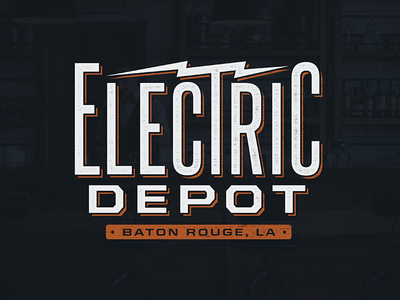 Electric Depot Logo electric baton rouge branding brand design logo