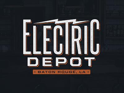 Electric Depot Logo electric baton rouge branding brand design logo
