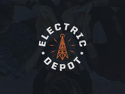 Electric Depot Secondary Mark mark logo radio tower electric baton rouge