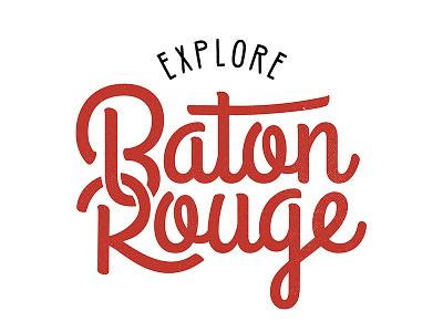 Explore Baton Rouge Logo patch flag explore logo baton rouge design