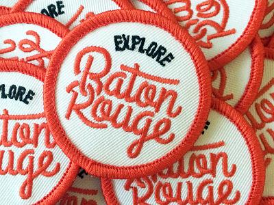 Explore Baton Rouge Patches flag explore logo baton rouge design patch