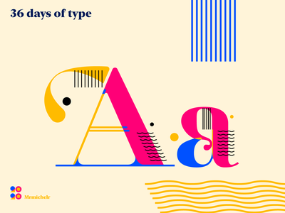 36 days of Type — Day 1 concept design font design 36days 36daysoftype typedaily typeface typedesign type art
