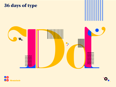 36 days of Type — Day 4 36days-d typeface design typedesign typedaily type art font design typeface design concept 36daysoftype07 36daysoftype 36days