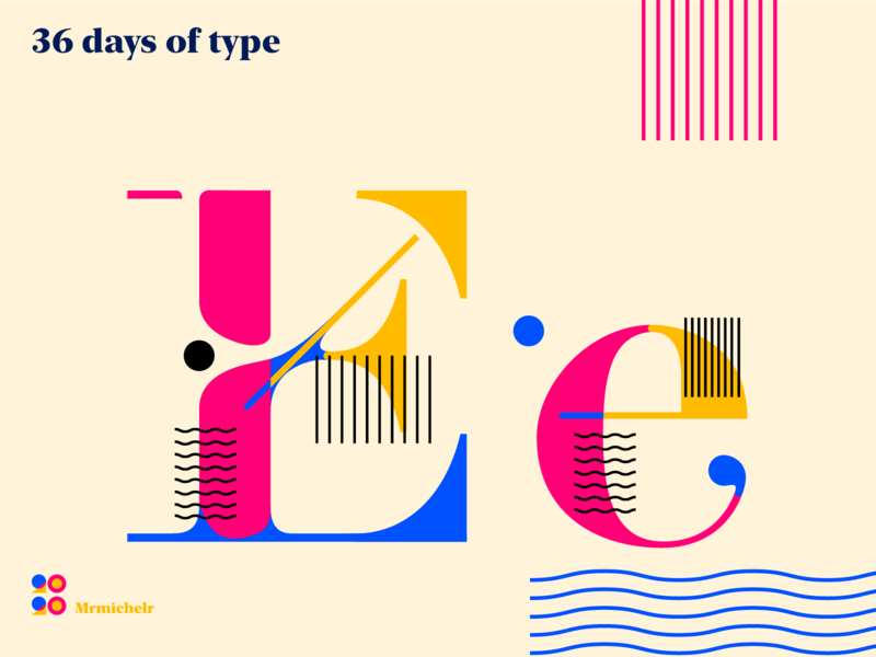 36 days of Type — Day 5 36days-e typeface design typedesign typedaily type art font design typeface concept design 36days 36daysoftype