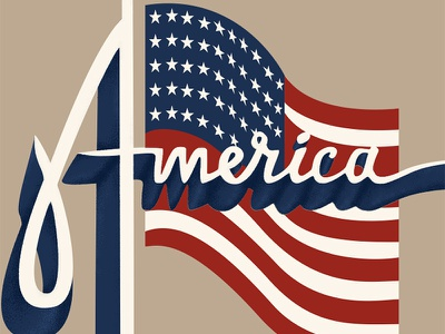 Playing with Type typography america logo