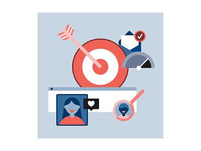 Target Audience adobe illustrator graphic design case study website spot illustration flat vector target audience illustration