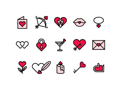 Valentine's Day Icons