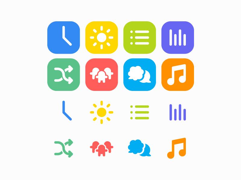 Toolkit Icons colorful minimal app icon set icons