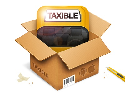 App Unboxing app icon taxible taxi box unboxing ios android