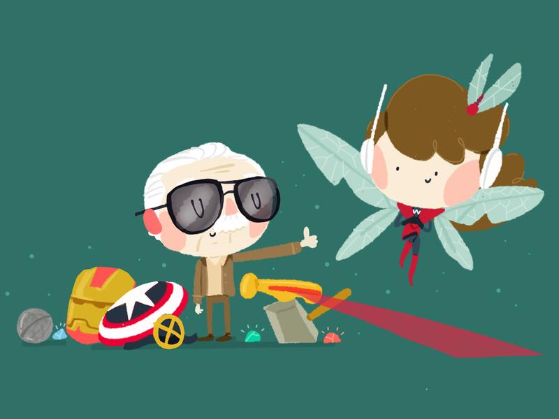 The Wasp sketch marvel comics illustrations fanart drawing draw doodle design cute color character cartoon